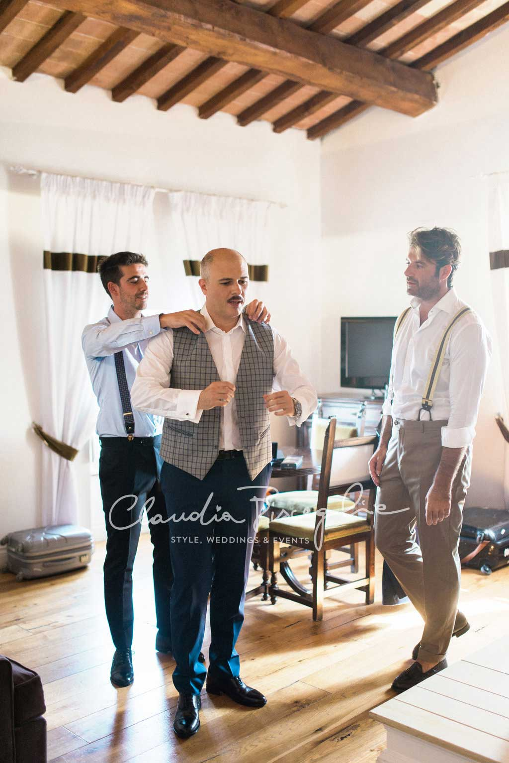 -Groom-getting-prepared